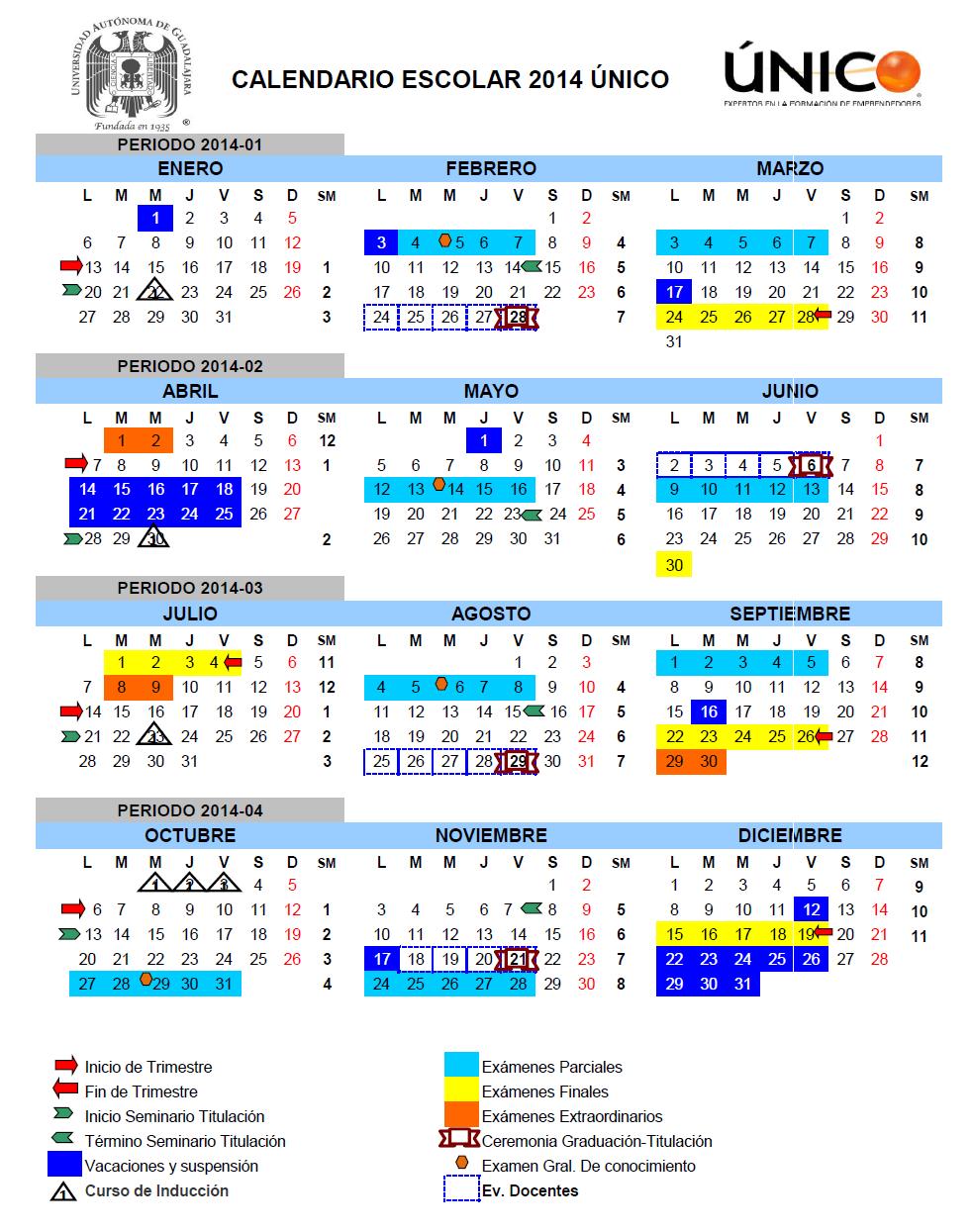 calendario 2013-2014 UAG