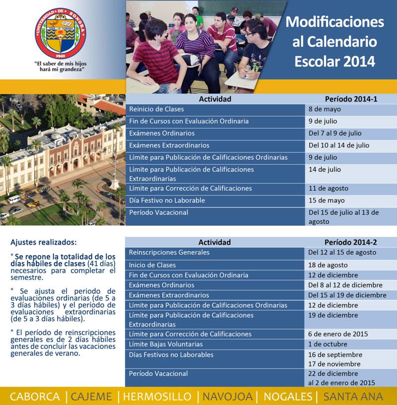 calendario 2014 uson