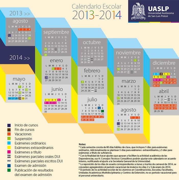 calendario escolar 2013-2014 UASLP