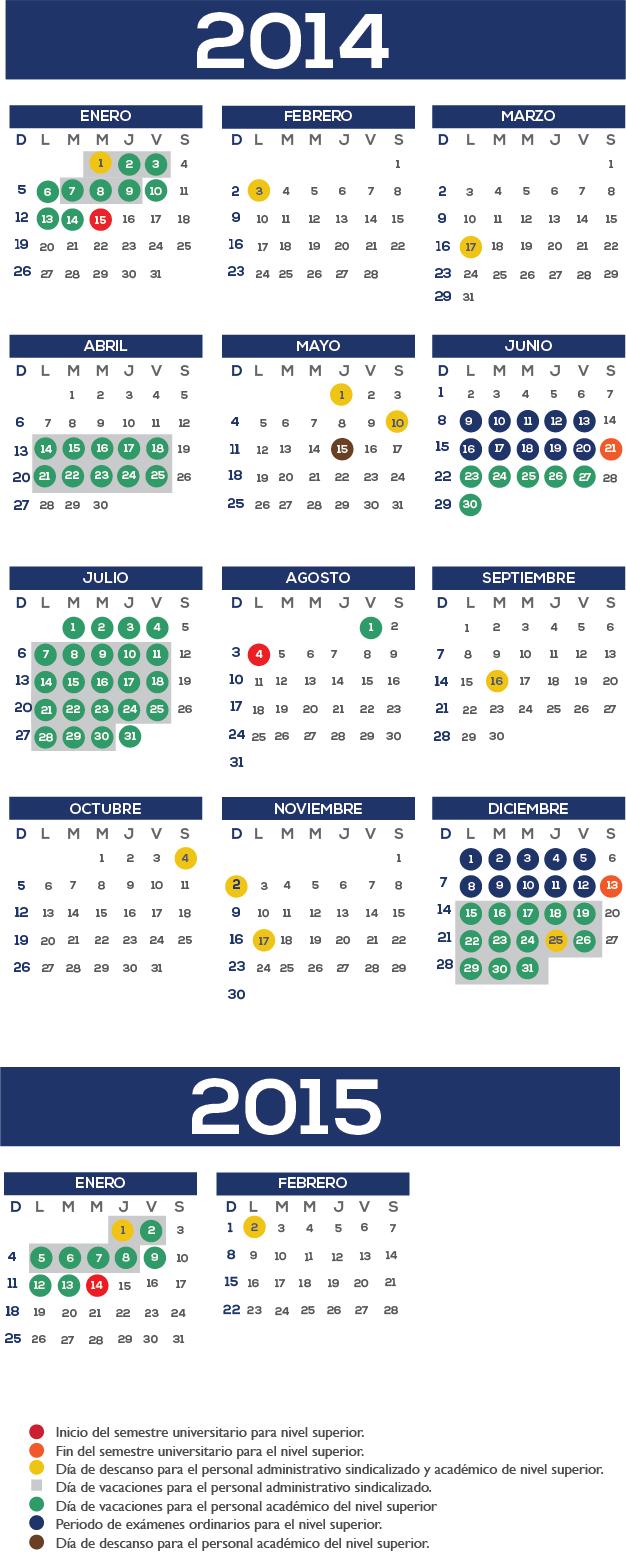 Calendario UEM superior 2014-2015