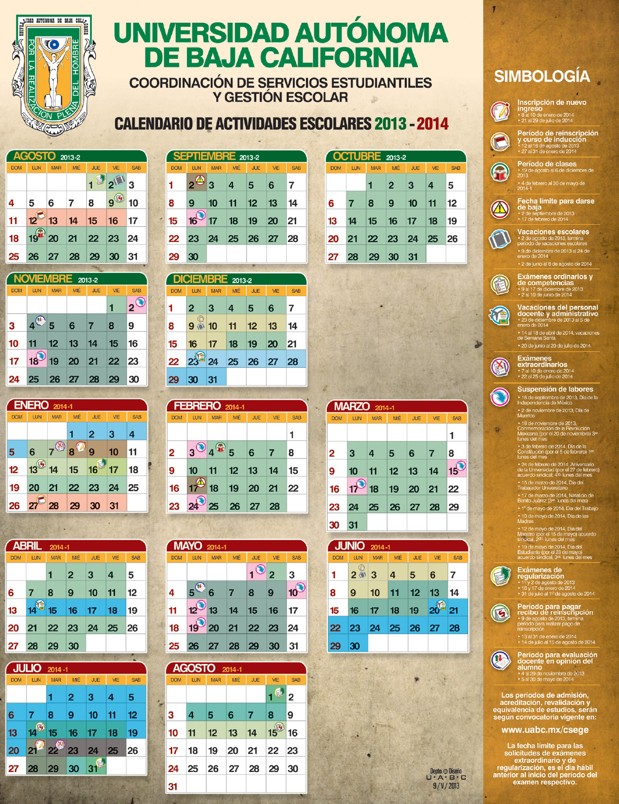 calendario escolar uabc 2013-2014