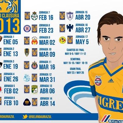 calendario tigres - CalendarioLaboral.com.mx