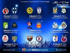 jornada 6 clausura 2014 liga mx