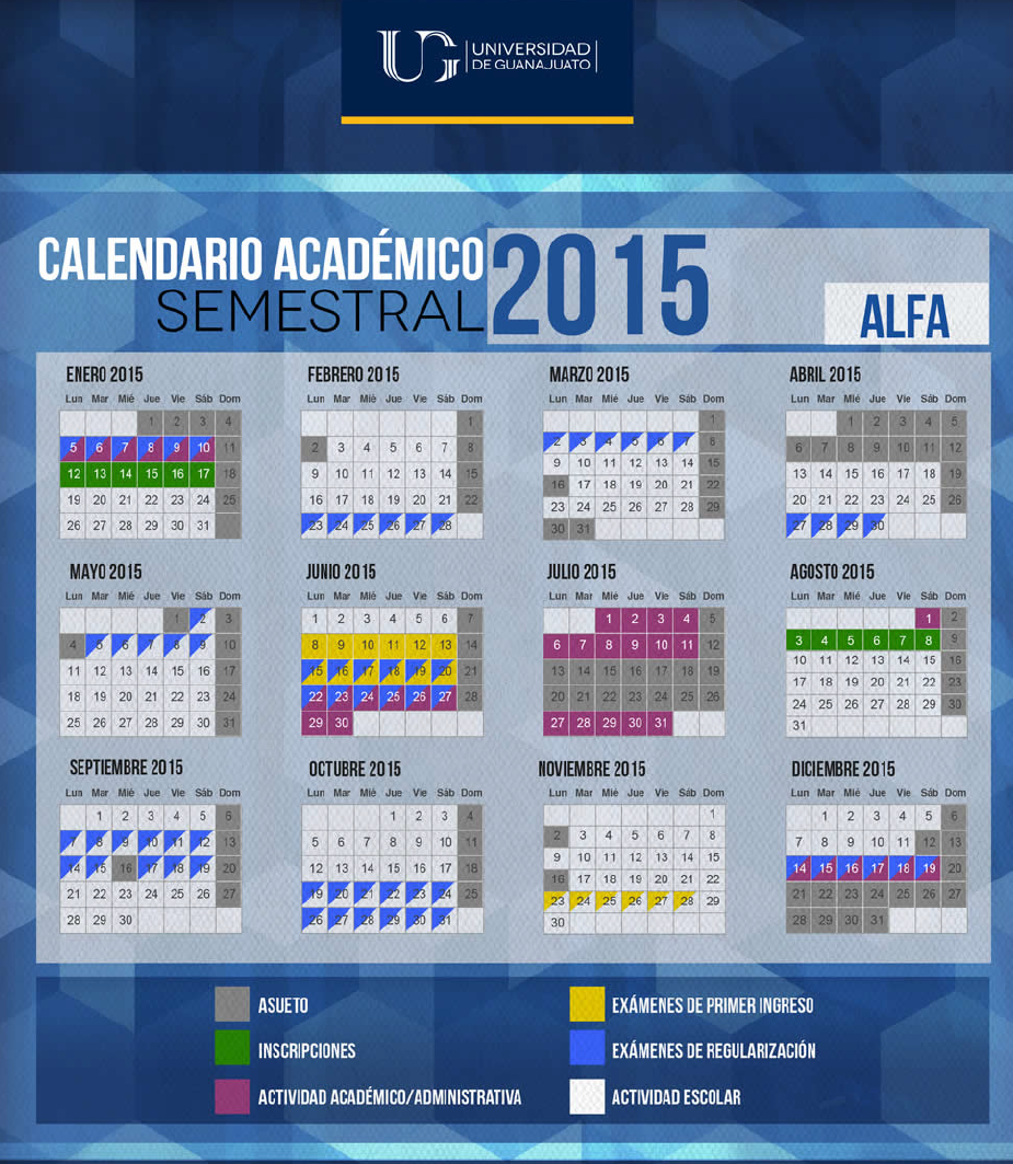 Calendarios Escolares Universitarios - CalendarioLaboral.com.mx