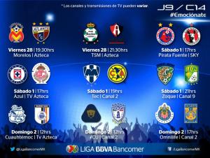 jornada 9 clausura 2014 liga mx