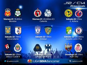 jornada 12 clausura 2014 liga mx