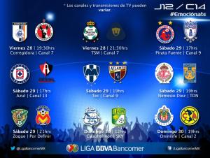 jornada 13 clausura 2014 liga mx