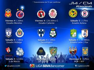 jornada 14 clausura 2014 liga mx