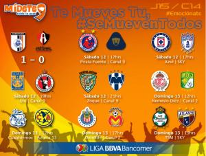 jornada 15 clausura 2014 liga mx