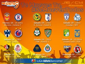 jornada 16 clausura 2014 liga mx