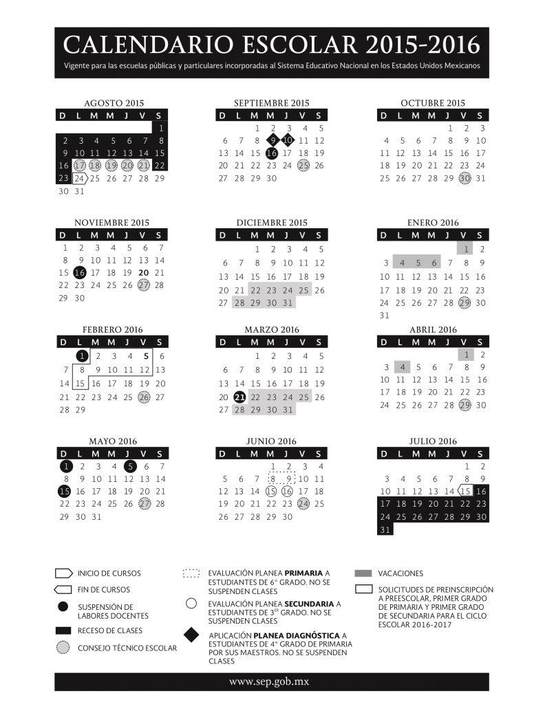 calendario escolar sep 2015 2016