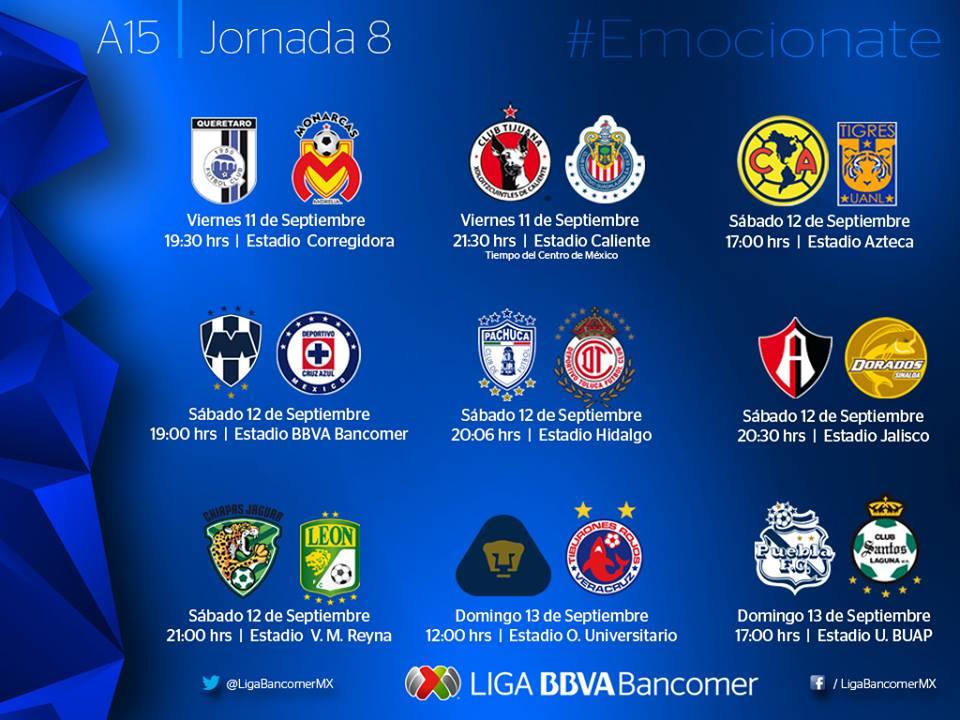 Apertura Liga MX 2015 - CalendarioLaboral.com.mx