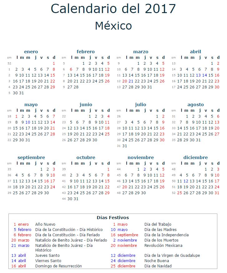 calendario-laboral-2017-mexico