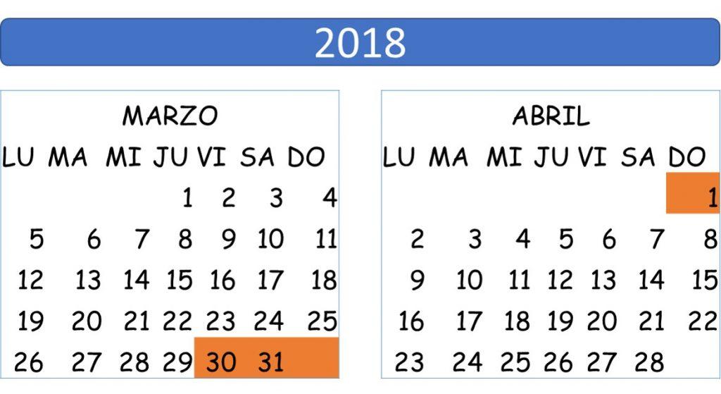 Semana Calendario.Semana Santa 2019 Calendariolaboral Com Mx