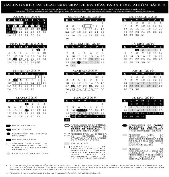 Calendario Verano 2020.Calendario Escolar Oficial Sep 2019 2020 Calendariolaboral Com Mx