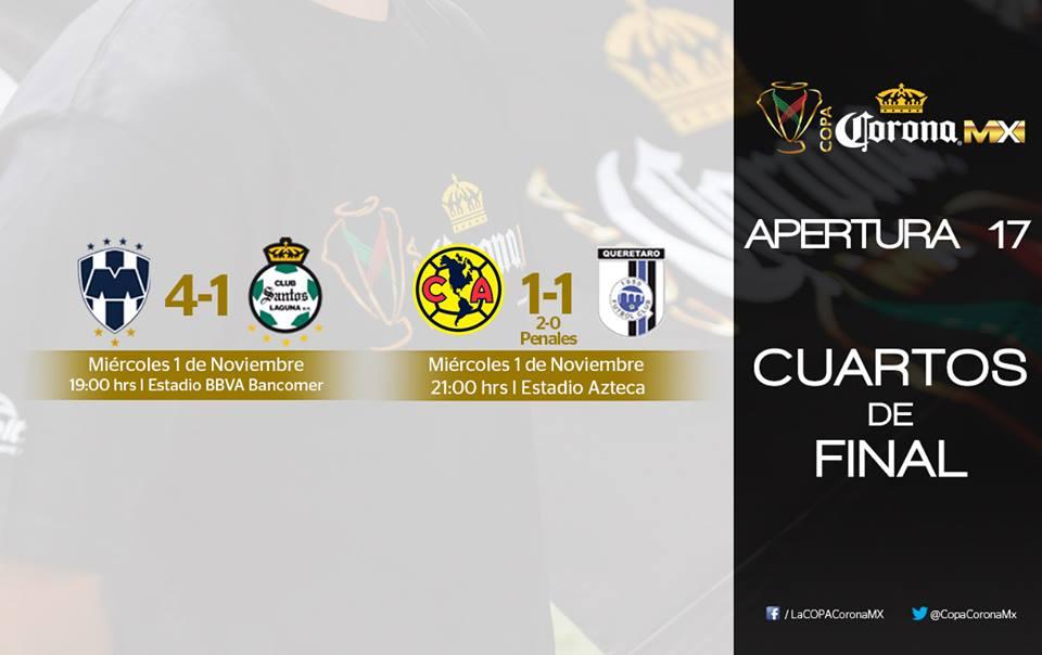 Copa Corona MX Apertura 2017 - CalendarioLaboral.com.mx